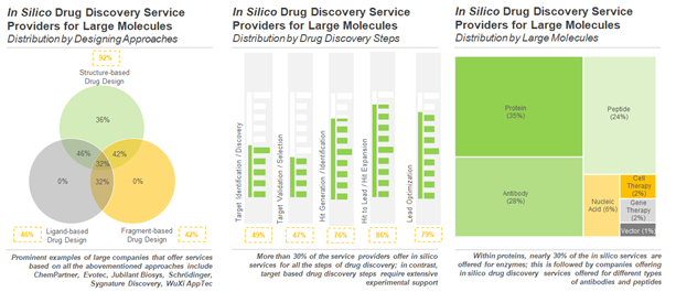 In Silico / Computer-Aided Drug Discovery Service Providers for Large Molecules
