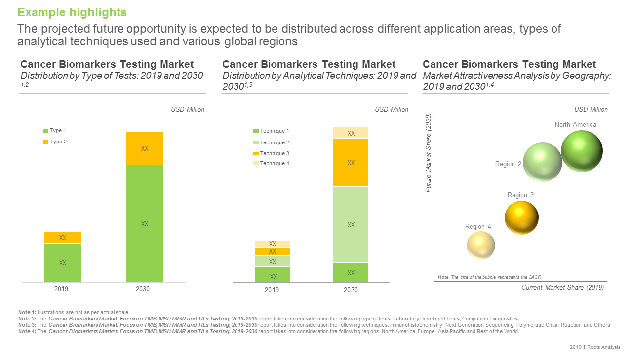 Cancer Biomarkers Market - Focus on TMB MSI or MMR and TILs Testing 2019-2030 -Example highlight